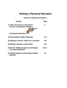 Writing Workshop Writing a Narrative-Horrors in Homeroom Part 1