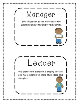 Cooperative Learning or Group/Team Responsibilities/ Job Badges