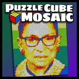 Cooperative Puzzle Cube Mosaic - Justice Ginsberg
