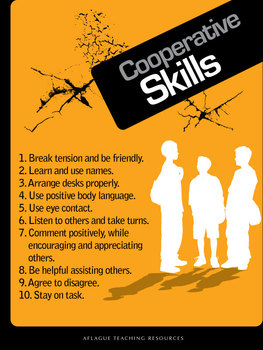 Cooperative Skills Poster (Digital Download)