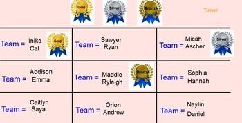 Cooperative Teamwork Slides (Gold, Silver, Bronze) Smart B
