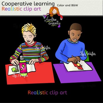 Cooperative learning- realistic clip art Color/ black&white