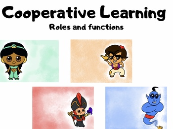 Cooperative learning: roles and functions Spanish / English Aladdin cooperativo