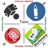 Cooperative learning table mats ELA READING