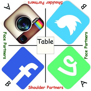 Cooperative learning table mats Social Media