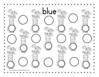 Color Dauber Dot Sheets