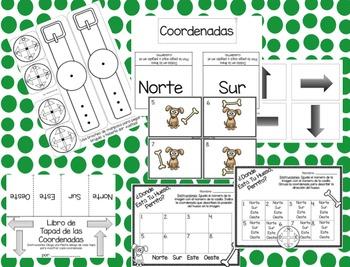Coordenadas y Habilidades para Leer Mapas para Niños!: Cardinal Directions