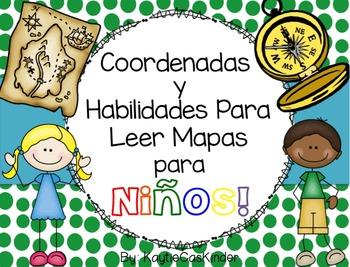 Coordenadas y Habilidades para Leer Mapas para Niños!: Car