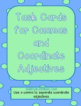 Coordinate Adjectives Task Cards