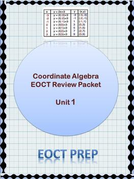 Coordinate Algebra EOCT Unit 1 Review Packet