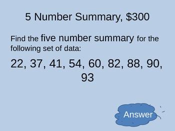 Coordinate Algebra Unit 4 Jeopardy Review