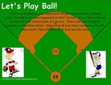 Coordinate Baseball Graphing Game - Smartboard