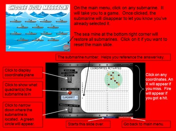 FREE VERSION - Coordinate Battleship for Graphing Ordered Pairs