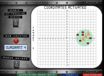 Coordinate Battleship for Graphing Ordered Pairs