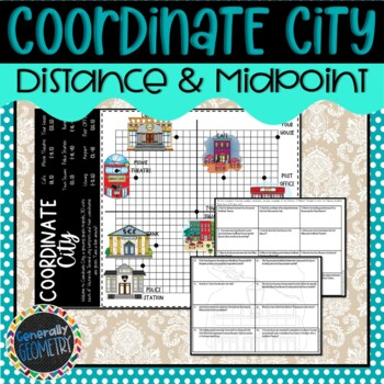 Coordinate City Distance & Midpoint Activity; Geometry