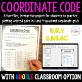 Coordinate Code:  A Fun Project for 1 and 4 Quadrant Coordinate Grids