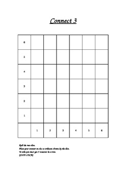 Coordinate Connect 3 Game
