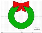Wreath, Winter, Christmas, Coordinate Drawing & Graphing, Mystery Picture