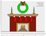 Fireplace, Christmas, Winter, Coordinate Drawing & Graphing, Mystery Picture