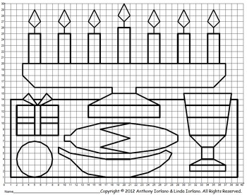 Kwanzaa, Winter, Coordinate Drawing, Coordinate Graphing, Mystery Picture