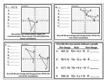 Coordinate Geometric Translations Intro