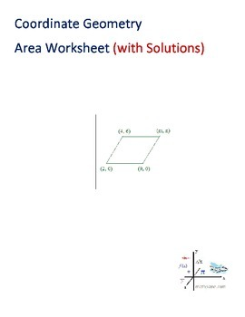 Coordinate Geometry Area Worksheet (with solutions)
