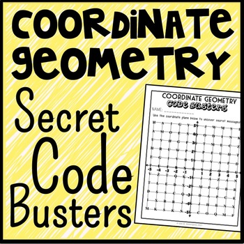 Coordinate Geometry Code Busters, Coordinate Plane Geometry Game