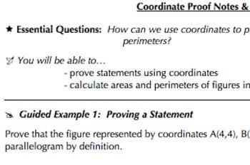 Coordinate Geometry Common Core Bundle (G.GPE.4, G,GPE.5, G.GPE.6, & G.GPE.7)