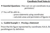 Coordinate Geometry Common Core Bundle (G.GPE.4, G,GPE.5,