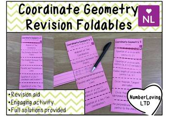 Coordinate Geometry (Foldable)