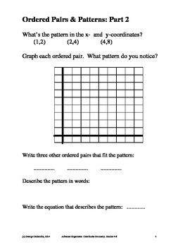 Coordinate Geometry, Grades 4-6, Advance Organizers