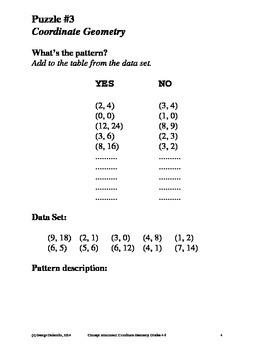 Coordinate Geometry, Grades 4-6, Concept Attainment