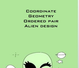 FREEBIE Coordinate Geometry Ordered Pair Alien Design