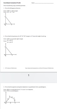 Coordinate Geometry Proofs