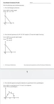 Coordinate Geometry Proofs