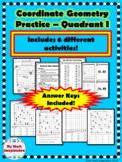 Coordinate Geometry Quadrant I Packet