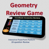 Coordinate Geometry Review for 8th Grade
