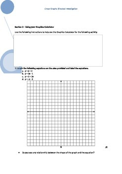 Coordinate Geometry and Graphing Assignment