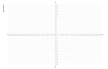 """Coordinate Graph - 4 Quad (Landscape) for print on 11"""" x 17"""" paper"""