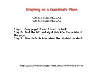 Coordinate Graph Foldable