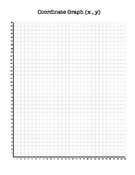 Coordinate Graph Paper (x,y)