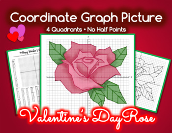 Coordinate Graph Picture - VALENTINE'S DAY ROSE