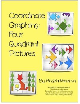 Coordinate Graphing 4 Quadrant Pictures