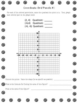 Coordinate Graphing Area Puzzles