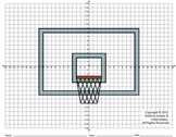 Basketball Backboard, March, Road to Winning, Coordinate Drawing & Graphing