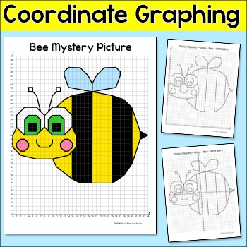 Coordinate Graphing Ordered Pairs Bee Mystery Picture Spri