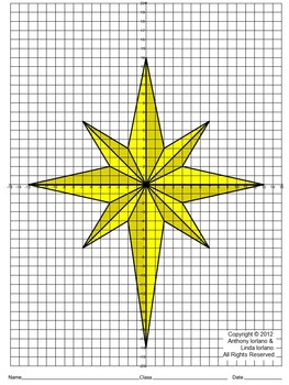 Star of Bethlehem, Christmas, Coordinate Drawing & Graphing, Mystery Picture