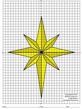 Star Of Bethlehem Christmas Coordinate Drawing