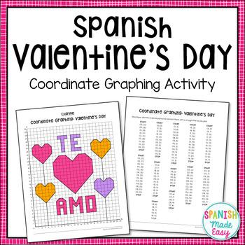 Spanish Valentineu0027s Day Coordinate Graphing Activity