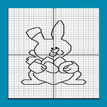 Coordinate Graphing - GraphX - Holiday Easter Bunny